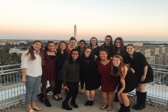 This all girl a cappella group sings favorites from The Beatles, to modern artists, like Jason Mraz, to their all-time favorite